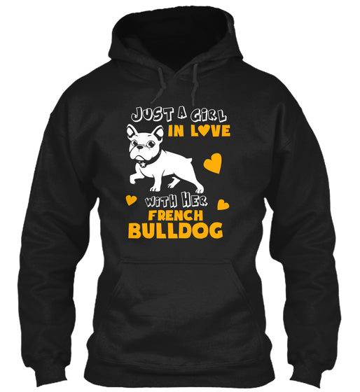Funny Pet Tee Love With Her Bulldog