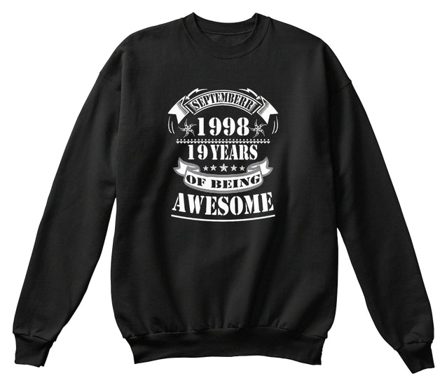 1998 Years Of Being Awesome 19th Birthday T Shi