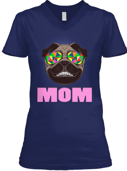 Funny Pug Smiling Mom