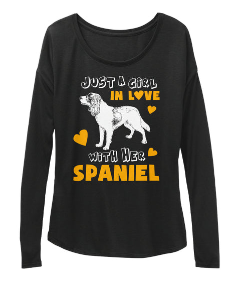 Funny Pet Tee Love With Her Spaniel