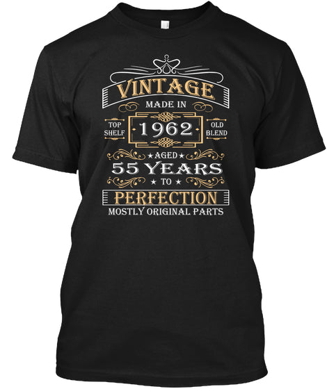 Vintage Age 55 Years 1962 Perfect 55th Birthday Gift