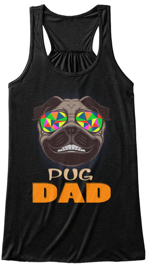 Funny Pug Smiling With Glasses Dad