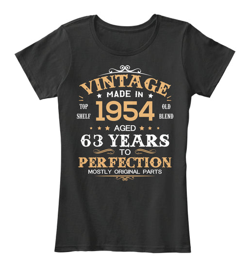 Vintage Made In 1954 Aged 63 Years Tee