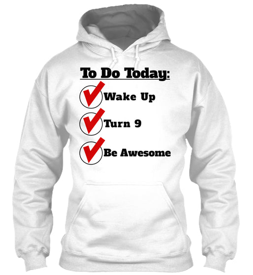 Checklist Wake Up Turn 9 Be Awesome Funny 9th Birthday