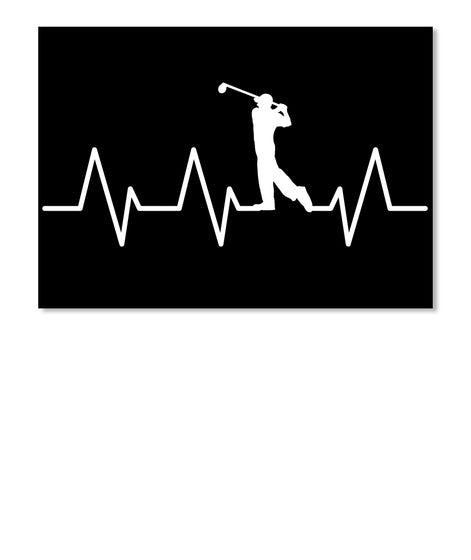 Golf Heartbeat Tshirt