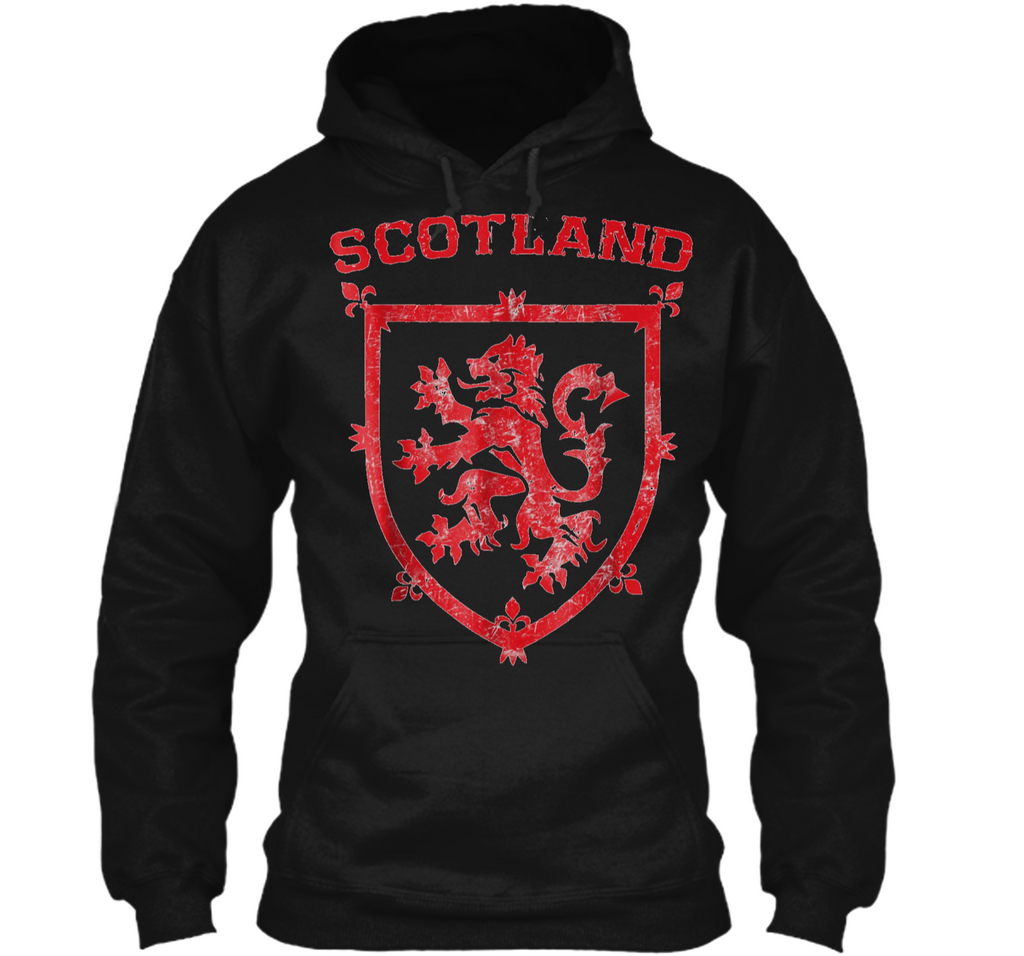 Scotland Royal Coat of Arms King of Scots Red Lion Pullover Hoodie 8 oz