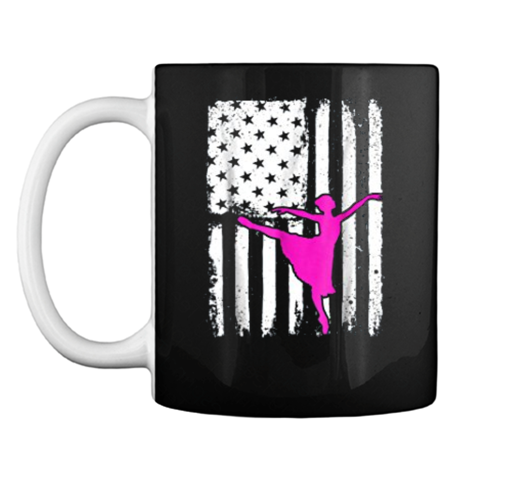 Ballerina USA America Flag  for Ballet Dancers Mug