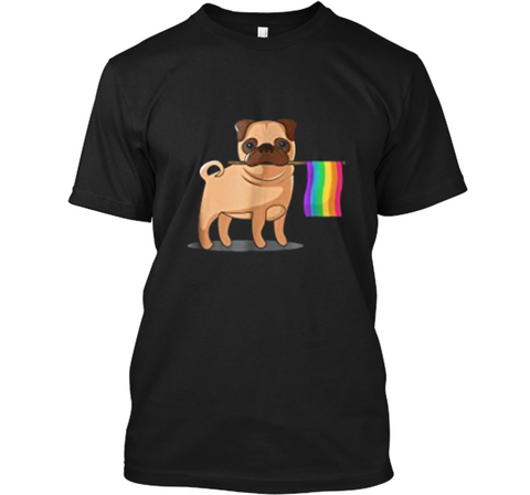 Gay Pride Flag Pug  - LGBT Pride  Custom Ultra Cotton