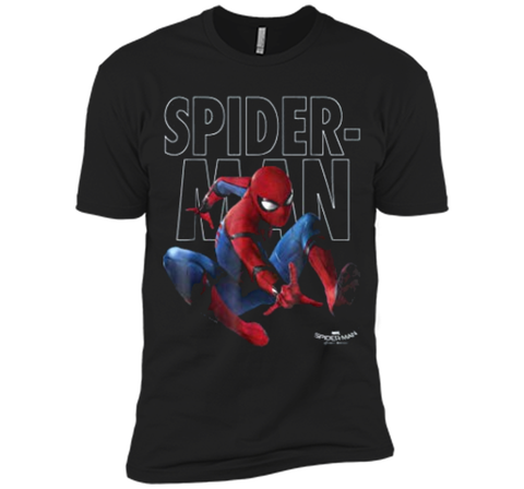 Marvel Spider-Man Homecoming Outlined Epic Jump Pose  Next Level Premium Short Sleeve Tee