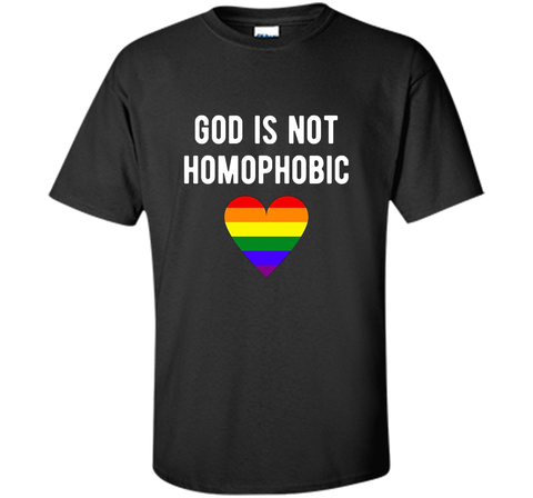Christianity LGBT Pride T-shirt - God is Not Homophobic