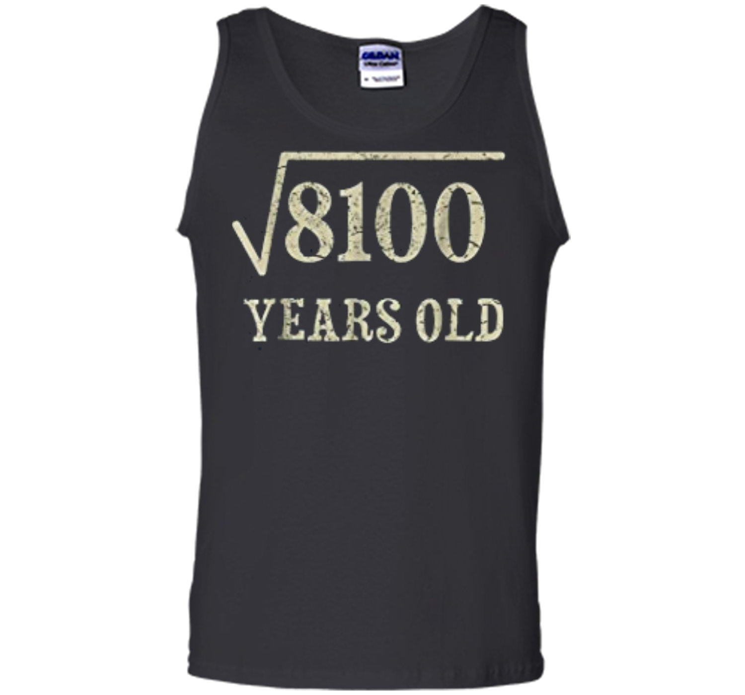 90 Yrs Years Old Square Root Of 8100 90th Birthday T Shirt Tank Top