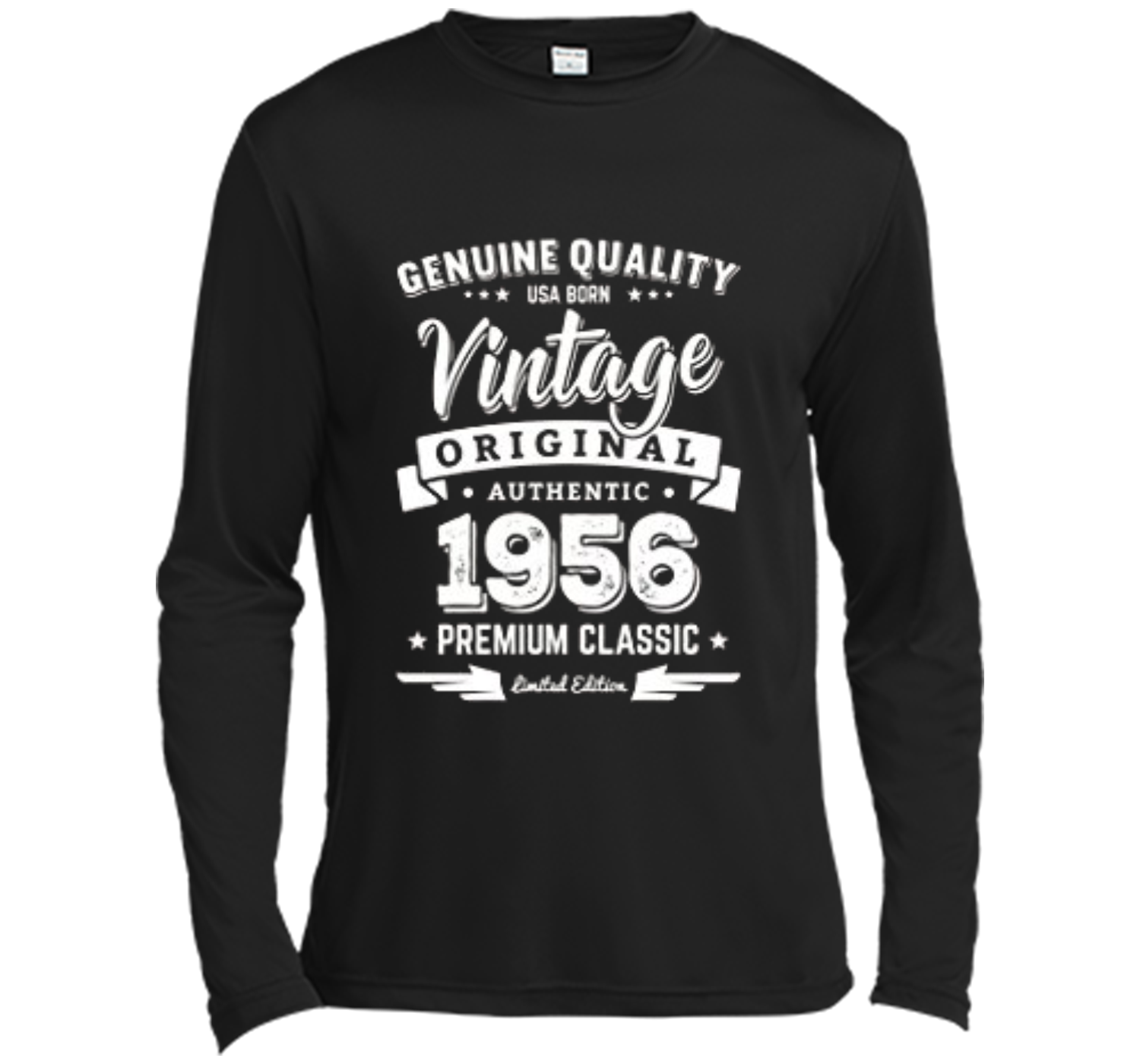 fb54f42f4 Born in 1956 Vintage Birthday T-Shirt - Made in 1956 Shirts Long Sleeve  Moisture