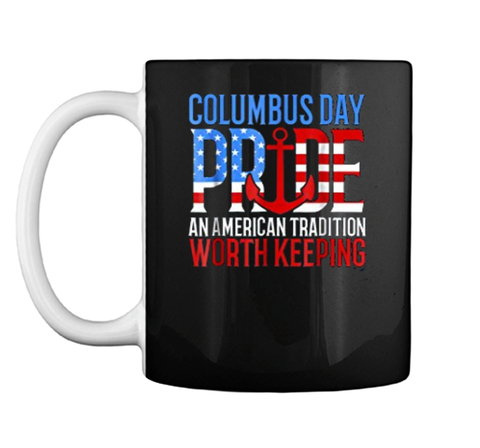 Columbus Day Pride American Flag Holiday  Mug