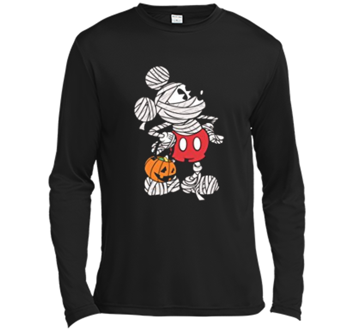 disney mickey mouse mummy halloween tee long sleeve moisture absorbing shirt