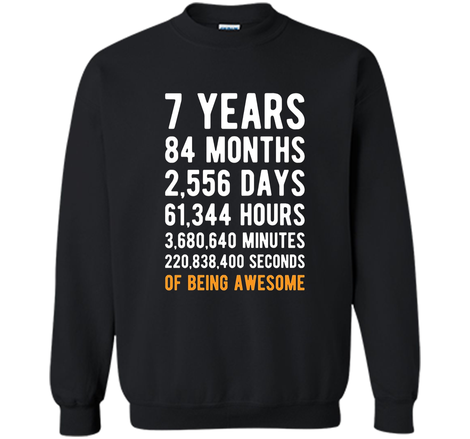 7th Birthday Gift T Shirt 7 Years Old Being Awesome Tee