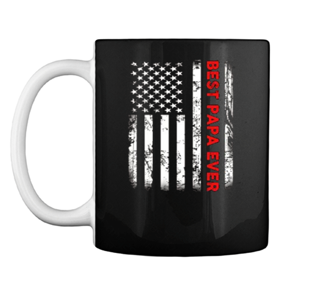 Best Papa Ever American Flag  Gifts For Dad Father Mug
