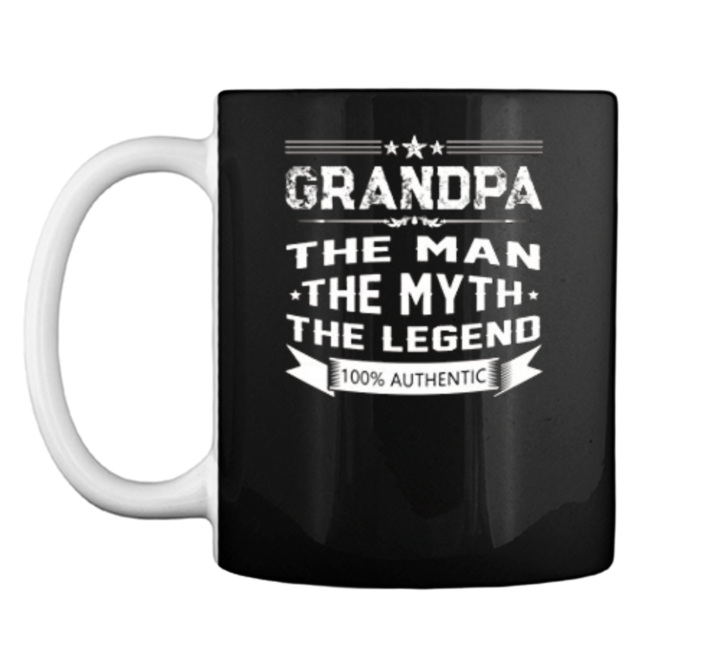 Grandpa The Man The Myth The Legend  Christmas Gifts Mug