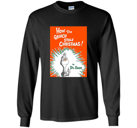 Dr. Seuss How the Grinch Stole Christmas Book Cover T-shirt