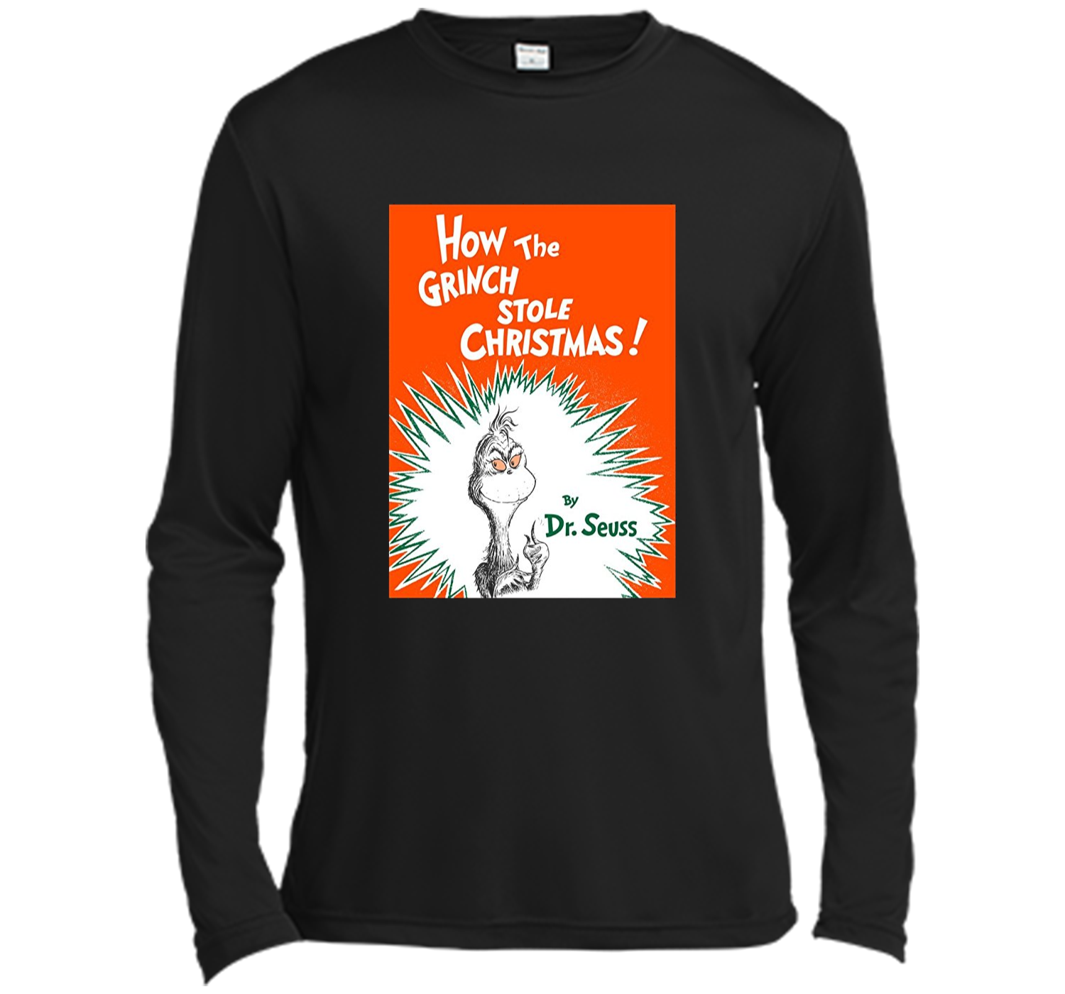 How The Grinch Stole Christmas Book Cover.Dr Seuss How The Grinch Stole Christmas Book Cover T Shirt