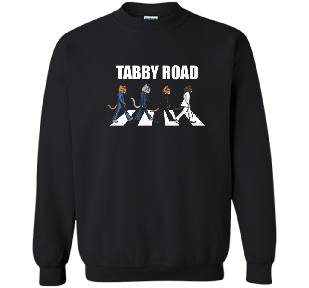 Tabby Road Cats Cool Cat Graphic Tee Printed Crewneck Pullover Sweatshirt