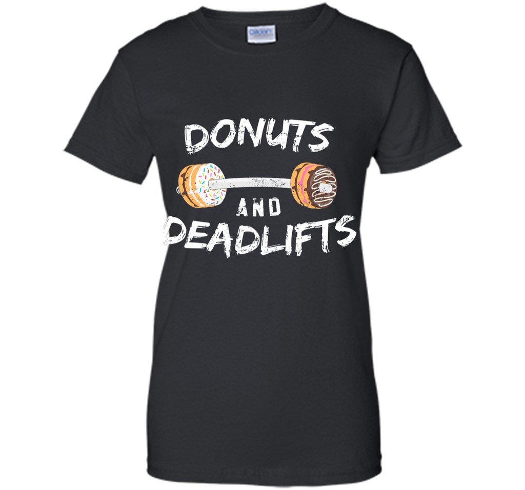 Donuts and Deadlifts T-Shirt Funny Doughnut Workout Tee
