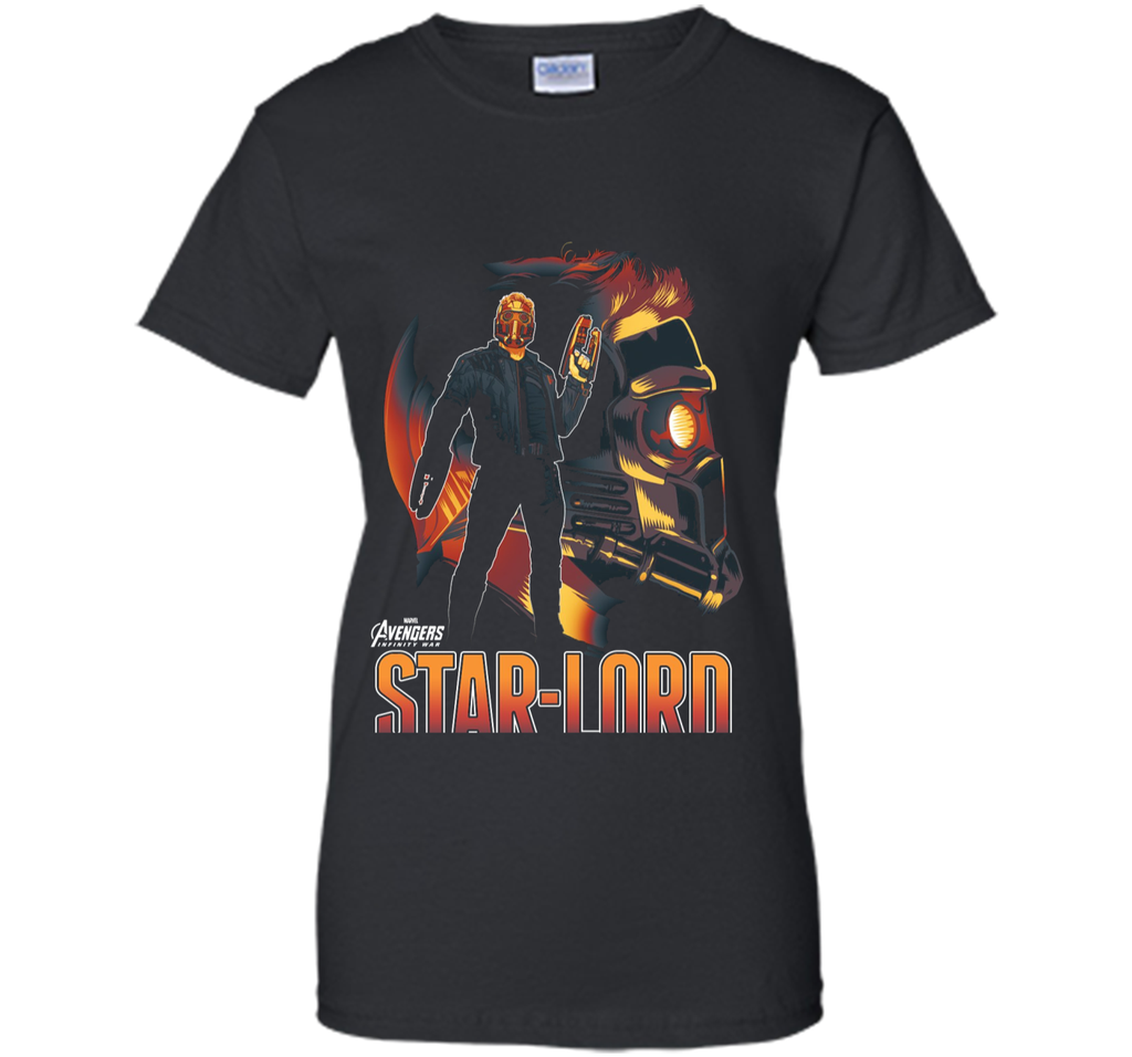 Marvel Infinity War Star-Lord Head Profile Graphic T-Shirt