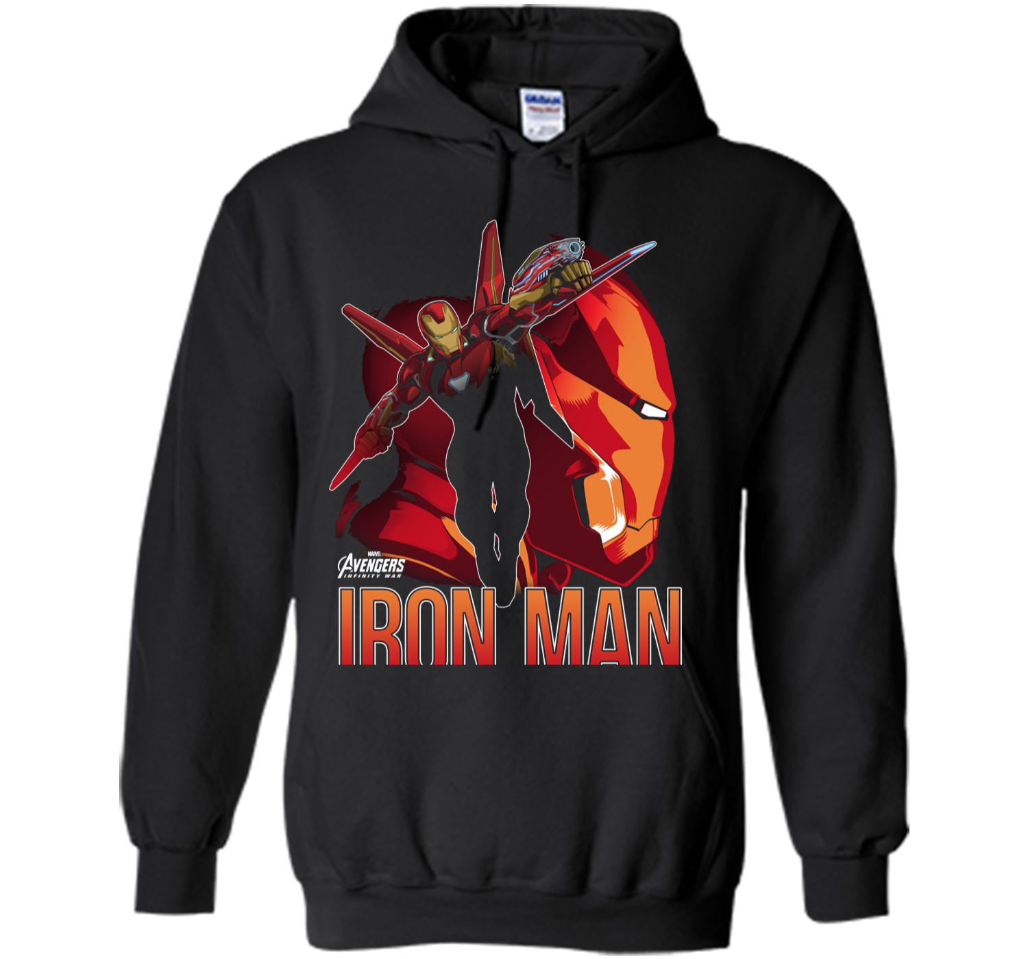 Marvel Infinity War Iron Man Profile Graphic T Shirt Pullover Hoodie Ironman Red Tees