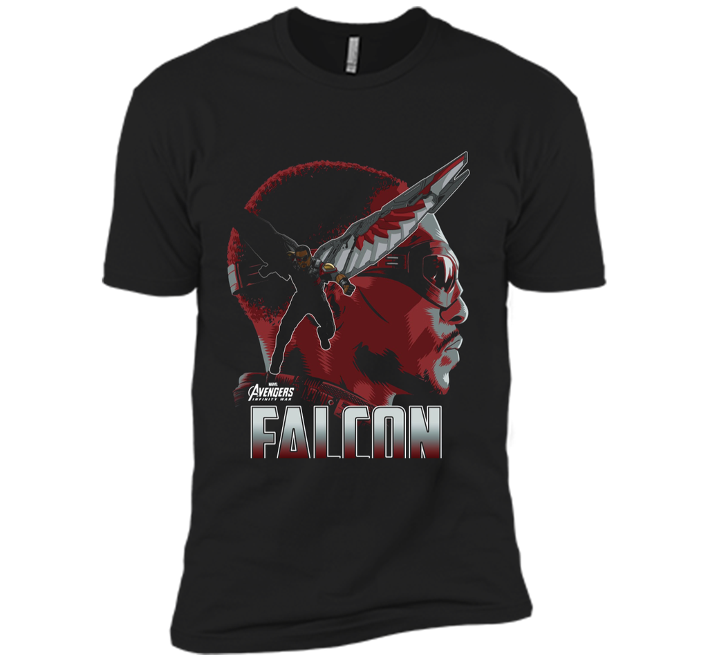 Marvel Infinity War Falcon Big Head Profile Graphic T-Shirt