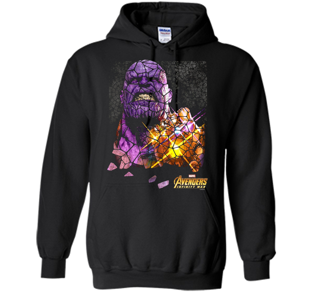 Marvel Infinity War Thanos Stained Glass Premium T-Shirt
