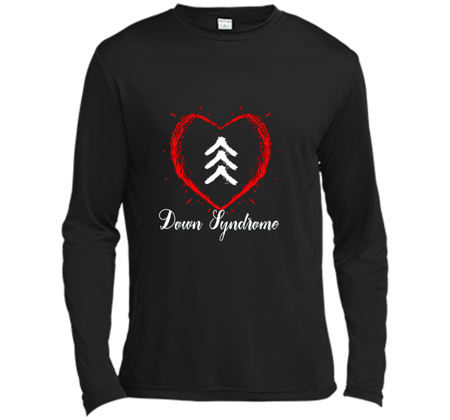 c7911c005514a Love World Down Syndrome Awareness Day Love 3 Arrows Shirt Long ...