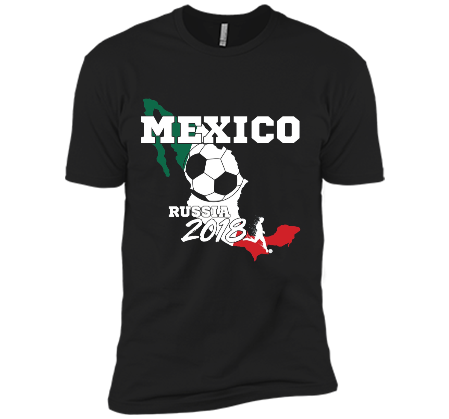 Mexico Soccer Team 2018 T Shirt Football Fan Next Level Premium ... a6ba05dc0