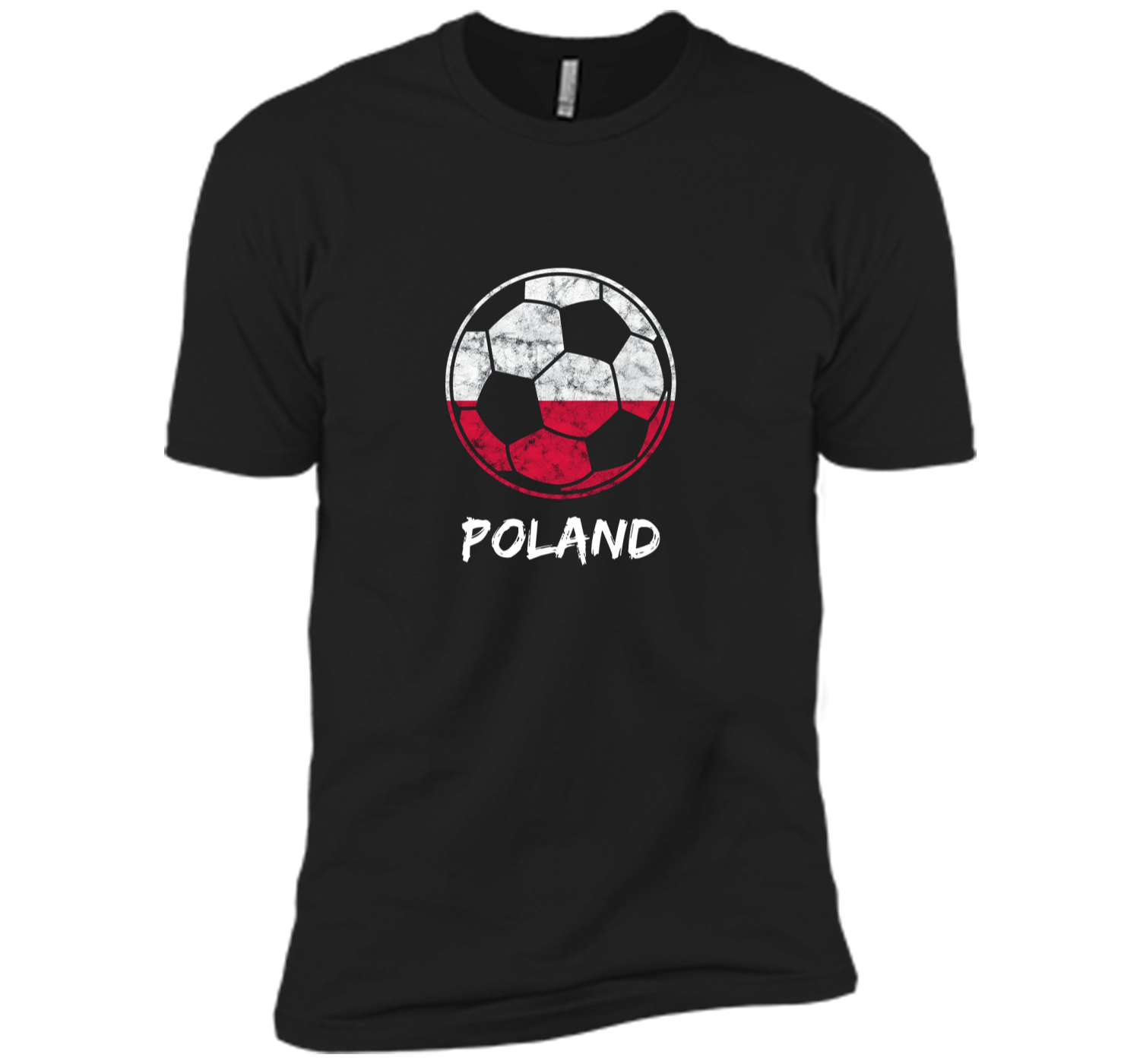2018 Retro Distressed Poland Football and Soccer Cup Shirt