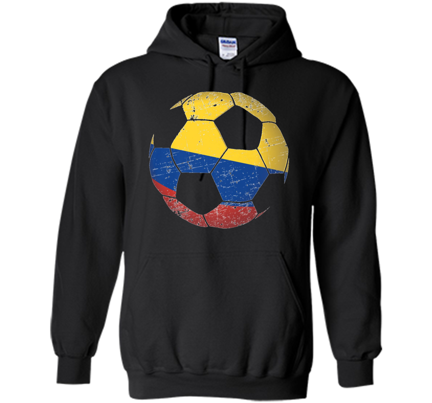 892d03a8aa5 Colombia Soccer Ball Flag Jersey Shirt Colombian Football Pullover ...