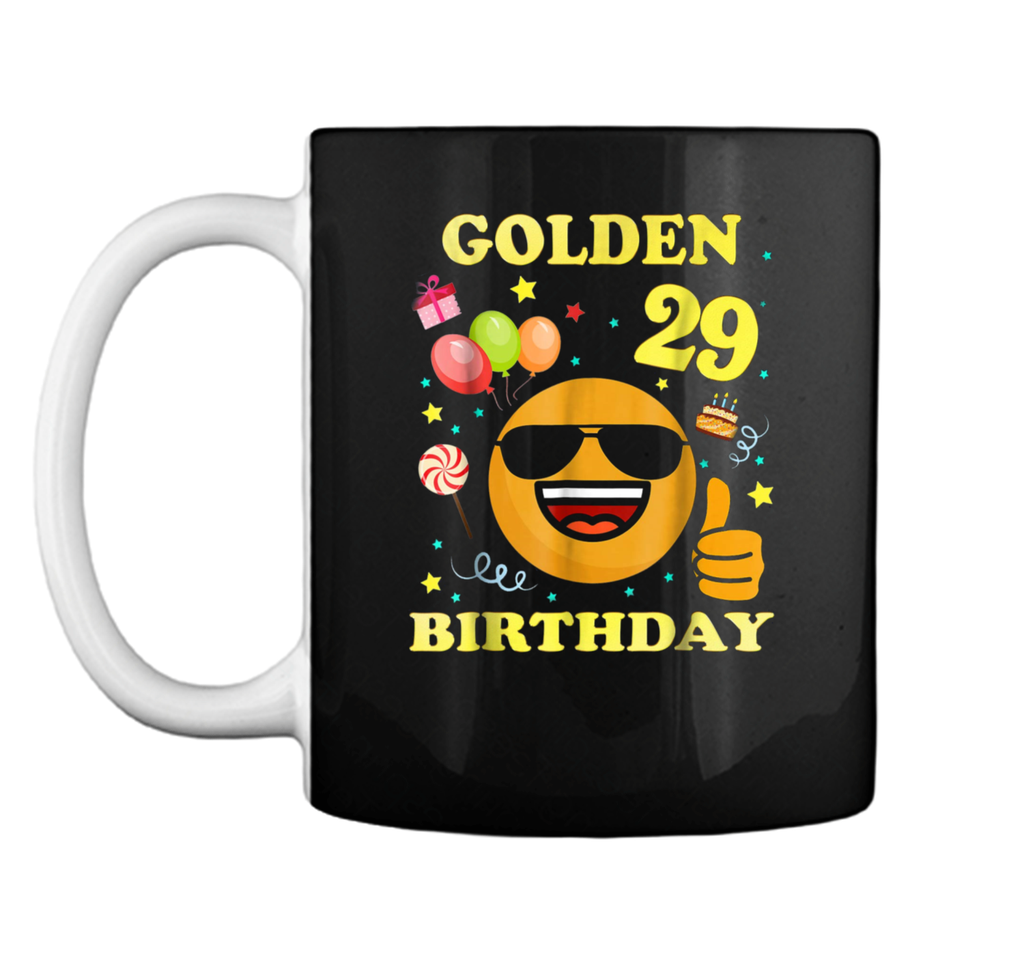 Emoji 29 Years Old  It's My 29th Golden Birthday Gift Mug