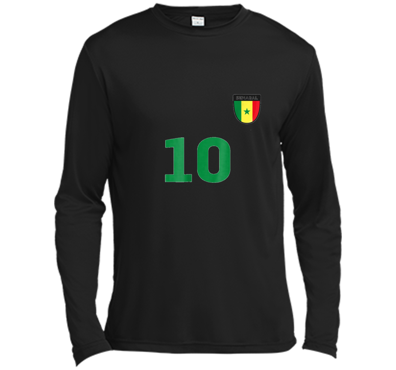 55800a3d44c Senegal Soccer Jersey World Football 2018 Fan Long Sleeve Moisture ...