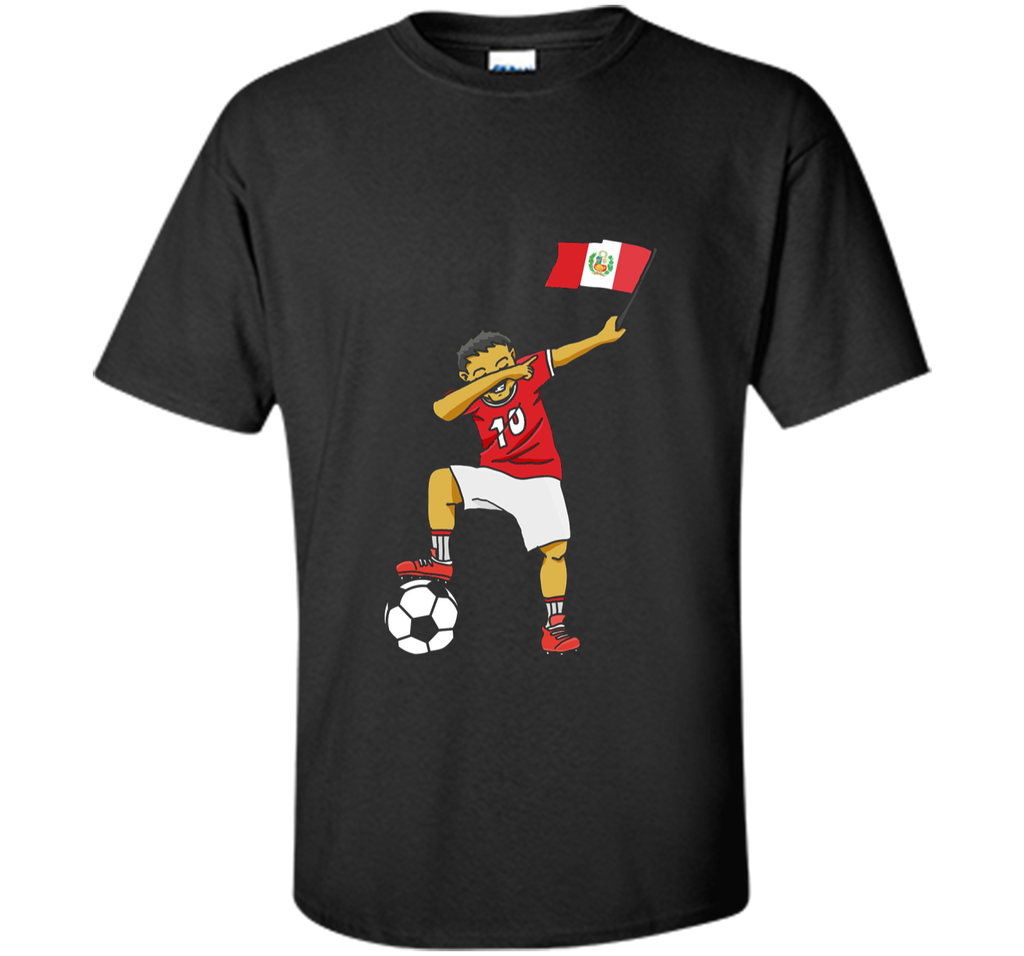 World Peru Dabbing Soccer Shirt 2018 For Kids