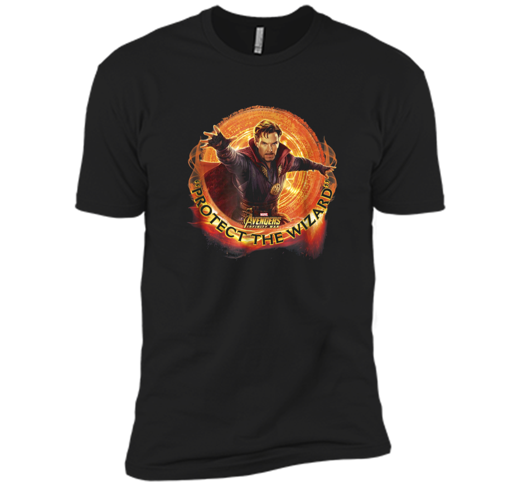 Marvel Infinity War Protect the Wizard Dr. Strange  Next Level Premium Short Sleeve Tee