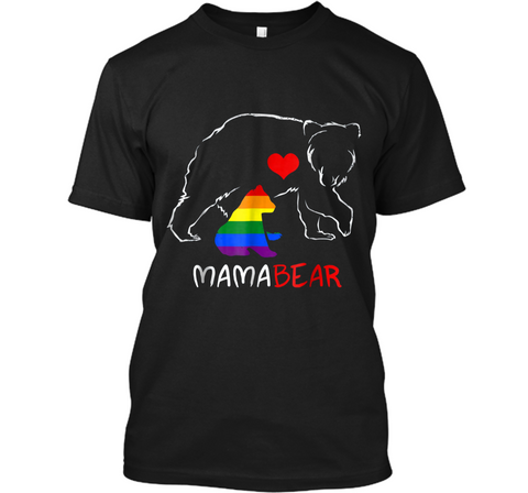LGBT Mom Mama Bear  Mothers Gift Rainbow  Custom Ultra Cotton