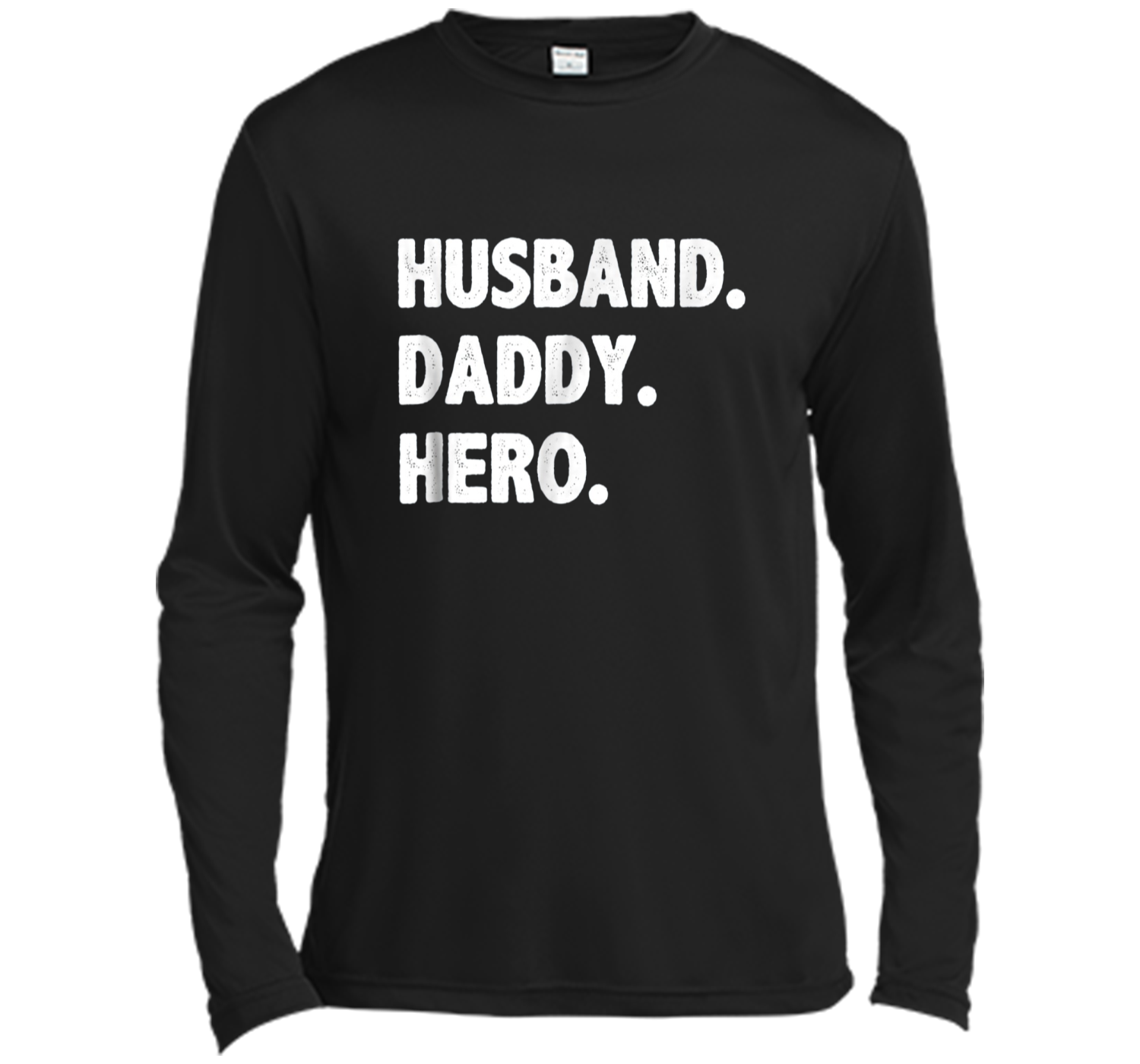 d8e87ae3 HUSBAND DADDY HERO Shirt Cute Funny Fathers Day Gift Long Sleeve ...