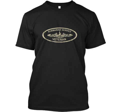 Vintage US Navy Submarine Service Veteran T-  Custom Ultra Cotton