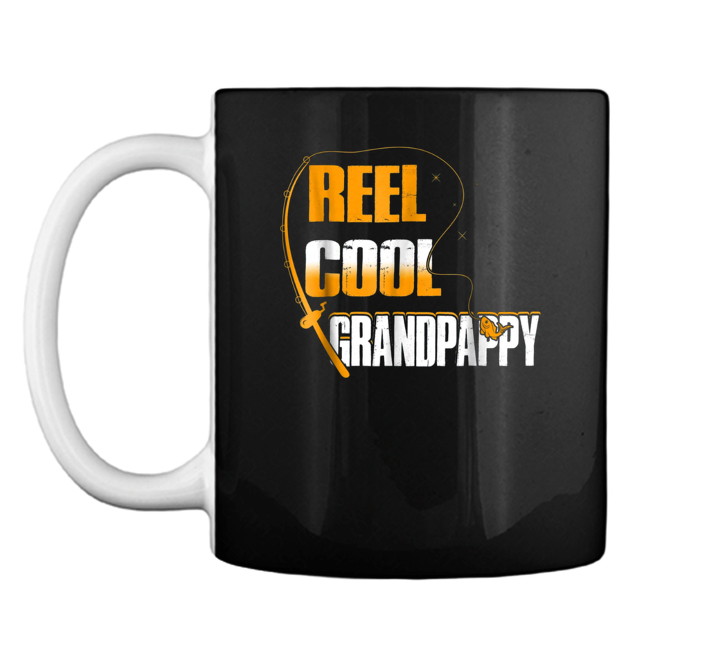 Mens Reel Cool Grandpappy  Fishing Father's Day Gift  Mug