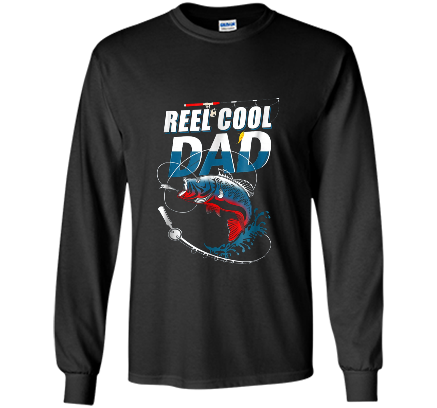 1f127e8e4 Mens Reel Cool Dad T-Shirt Fishing Daddy Father's Day Gift S LS ...