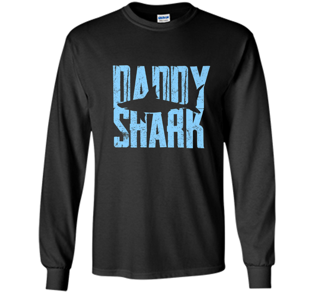Daddy Shark T-Shirt Fathers Day Gift from Wife Son Daughter