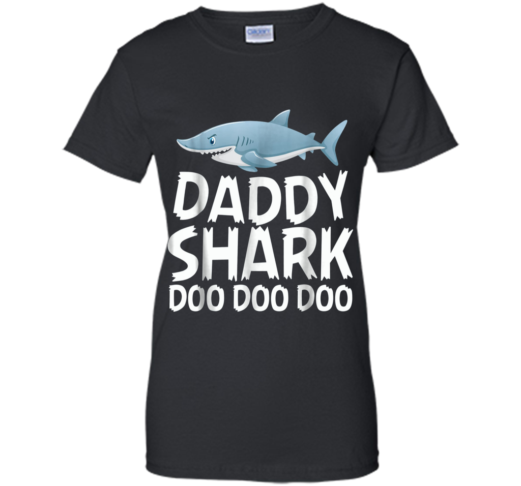 Daddy Shark Shirt Fathers Day Gift from Wife Son Daughter