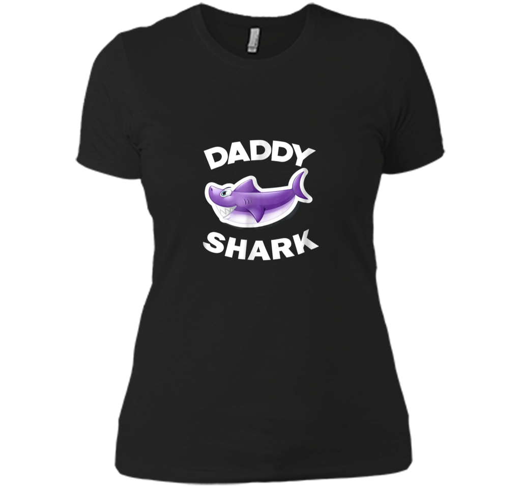 Mens Daddy Shark Shirt Funny Cute Father's Day Shirt