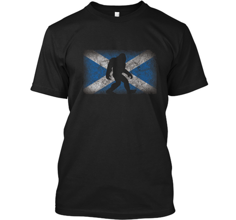Scotland Flag Bigfoot  Scottish Pride Cool Gift Custom Ultra Cotton