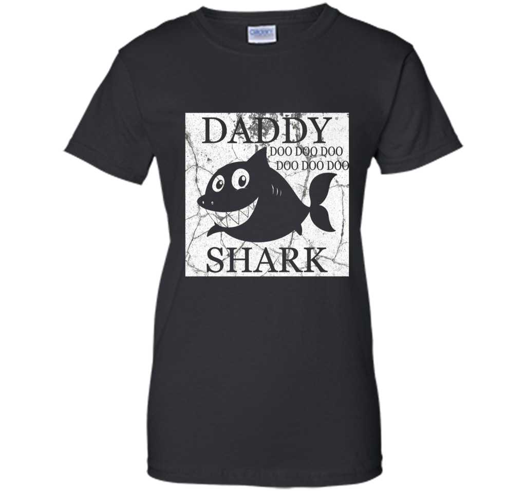 Mens Vintage Mens Daddy Shark Do Do Doo Shirt for Father's Day
