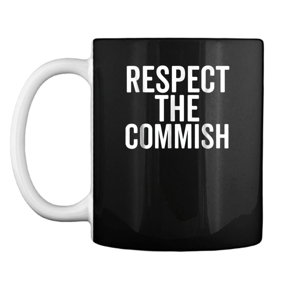 Respect The Commish  Fantasy Football Commissioner Gift Mug