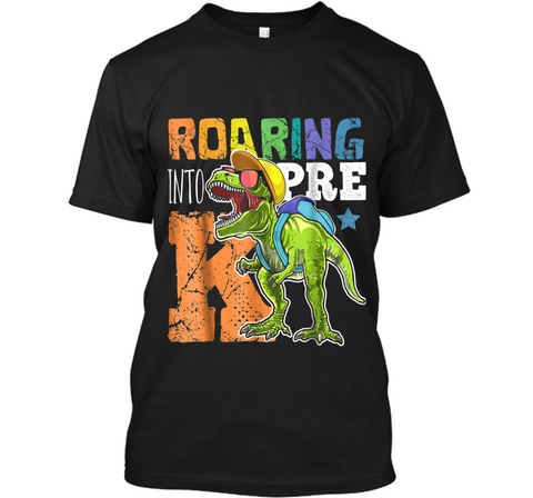 Roaring Pre-K Dinosaur T Rex Back to School  Boys Custom Ultra Cotton