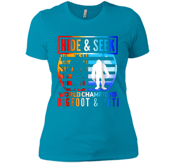 e4cabc2f Hide and seek world champions yeti & Bigfoot is real Next Level Ladies  Boyfriend Tee Next Level Ladies Boyfriend Tee – Pin My Tees